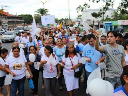 A  passeata da Paz é uma realização da Igreja católica
