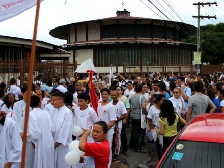 A população da região, participou da V edicao do evento