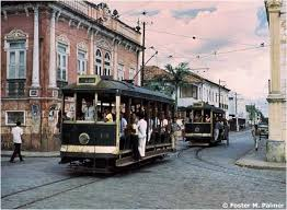 Os bondes, em atividades em Manaus, no século passado