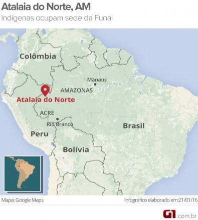 O ponto vermelho no mapa, mostra o local do conflito