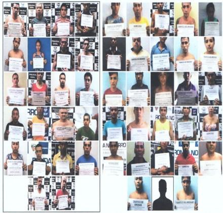 Registro fotográfico de alguns presos no ano passado