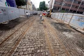 Os trabalhos de restauração dos trilhos, já começaram