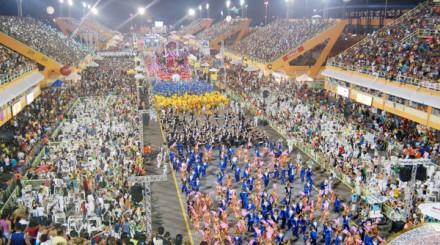 Desfile das Escolas de Samba, no Sambódromo de Manaus
