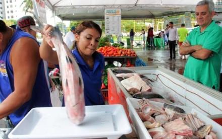 Comercialização está sendo feita em três pontos da cidade até a  próxima sexta-feira, das 7h às 21h