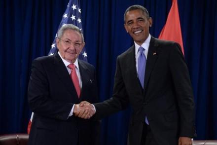 Ral Castro e Obama, nos Estados Unidos, agora, Obama vai a Cuba