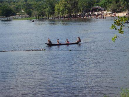 Lago doo MIriti, onde a pequena aeronave  caiu no domingo