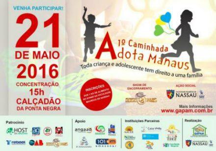 Caminhada Adota Manaus para incentivar a adoção