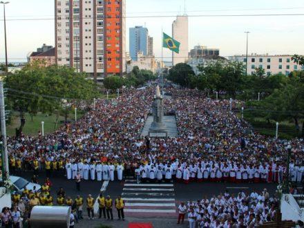 Procissão de Corpus Christi, em Manaus, em anos anterires