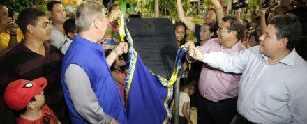 O prefeito Arthur Neto, no ato de inauguração dos Parques