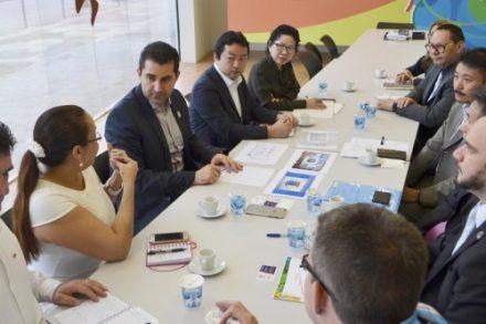 Cônsules do Japão e Colômbia, visita o Comite