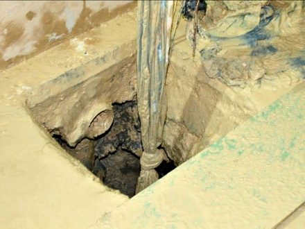 Fiscalizaãao encontra tunel de 15 m no Compaj