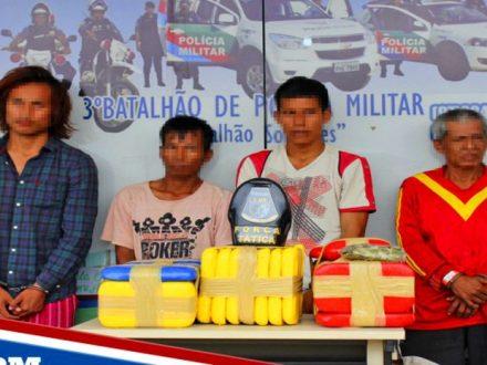 40 Kg de drogas, apreendidos pela Operação Ágata,, em Tefé