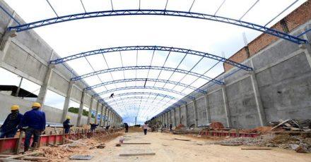 As obras no \terminal da Cachoeirinha, estãa na reta final
