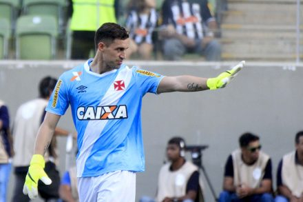 Marin Silva, defende penlti aos 45 do 2º tempo e gaarnte a vitória vascaina
