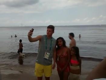 Selp na praia para levar de recordação de Manaus
