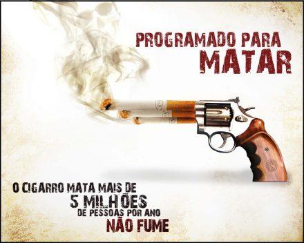 O cigarro marca devagar, mas, mata