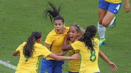 Menina do Brasil, de olho no oiro olimpico no futbol